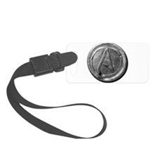 Atheist Silver Coin Luggage Tag