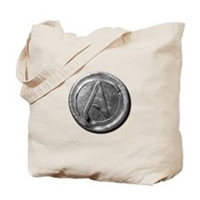 Atheist Silver Coin Tote Bag