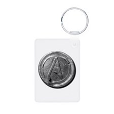 Atheist Silver Coin Keychains