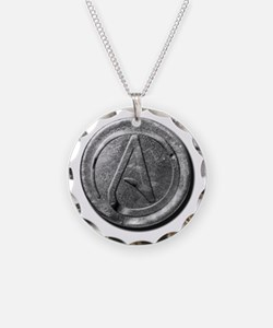 Atheist Silver Coin Necklace