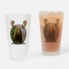 Moose in woods Drinking Glass