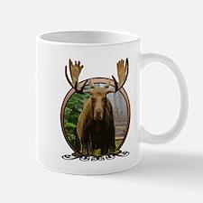 Moose in woods Mug