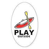 Kayak stickers Single