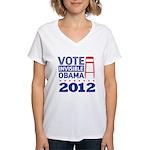 Invisible Obama Women's V-Neck T-Shirt