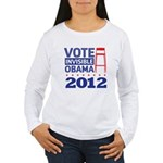 Invisible Obama Women's Long Sleeve T-Shirt