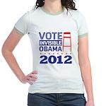 Invisible Obama Jr. Ringer T-Shirt