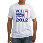 Invisible Obama Fitted T-Shirt