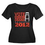 Invisible Obama Women's Plus Size Scoop Neck Dark