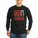 Invisible Obama Long Sleeve Dark T-Shirt