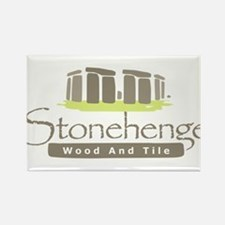 Stonehenge Wood and Tile Rectangle Magnet (100 pac