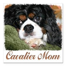 "Cavalier Mom Square Car Magnet 3"" x 3"""