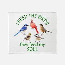 Bird Feeder Throw Blanket