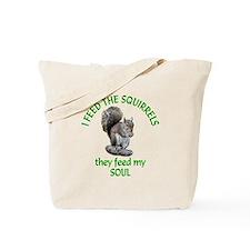 Squirrel Feeder Tote Bag