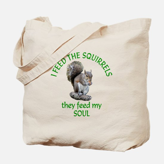 Squirrel Feeder Tote Bag