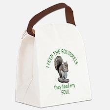 Squirrel Feeder Canvas Lunch Bag
