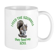 Squirrel Feeder Small Mug