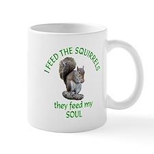 Squirrel Feeder Small Mug