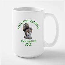 Squirrel Feeder Large Mug