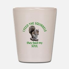 Squirrel Feeder Shot Glass