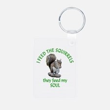 Squirrel Feeder Keychains