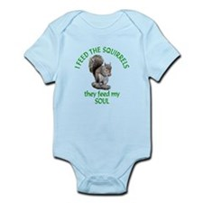Squirrel Feeder Infant Bodysuit