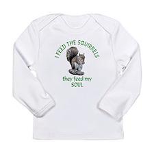 Squirrel Feeder Long Sleeve Infant T-Shirt