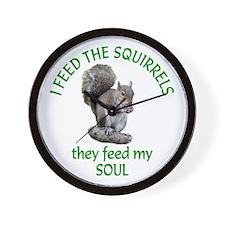 Squirrel Feeder Wall Clock