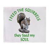 Squirrel Fleece Blankets
