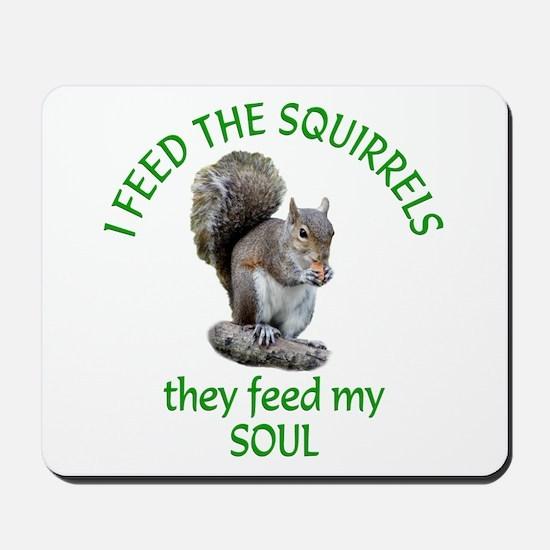 Squirrel Feeder Mousepad