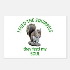 Squirrel Feeder Postcards (Package of 8)