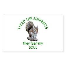Squirrel Feeder Decal