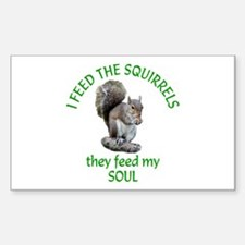 Squirrel Feeder Decal