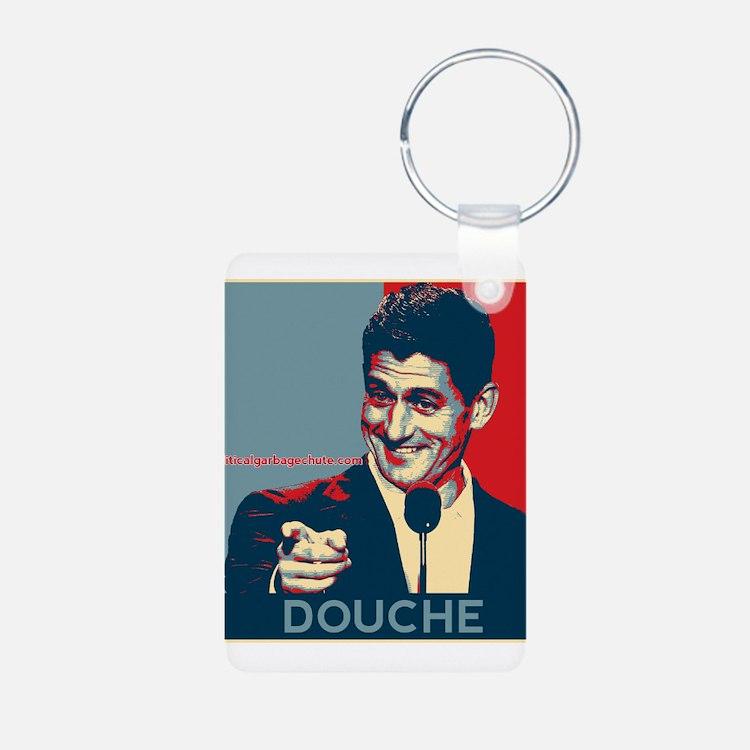 "Paul Ryan - ""Douche"" Aluminum Photo Keychain"