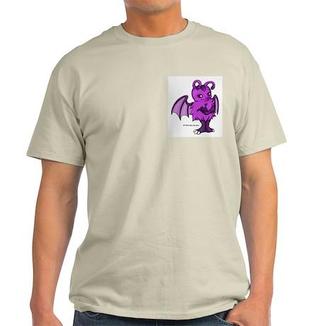 Purple Gretchling Ash Grey T-Shirt