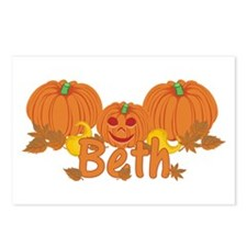 Halloween Pumpkin Beth Postcards (Package of 8)