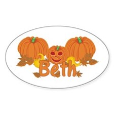Halloween Pumpkin Beth Decal