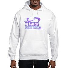 3 Gymnasts (Purple) Hoodie