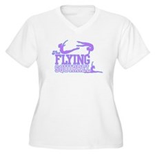 3 Gymnasts (Purple) T-Shirt