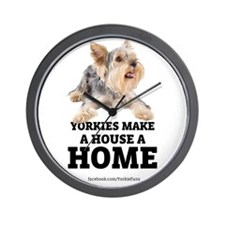Home with Yorkies Wall Clock