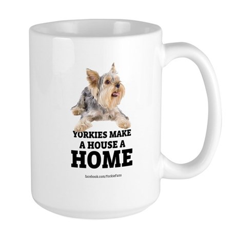 Home with Yorkies Large Mug