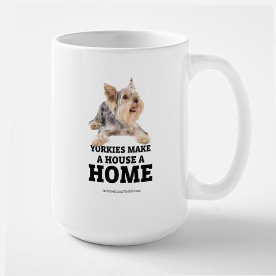 Home with Yorkies Large Mug