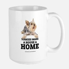 Home with Yorkies Mug