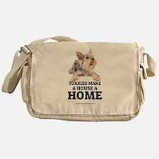 Home with Yorkies Messenger Bag