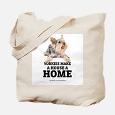 Home with Yorkies Tote Bag