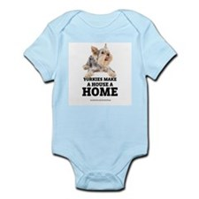 Home with Yorkies Infant Bodysuit