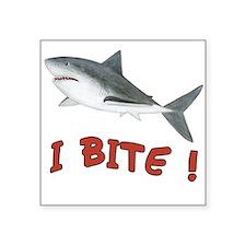 """Shark - I Bite Square Sticker 3"""" x 3"""""""