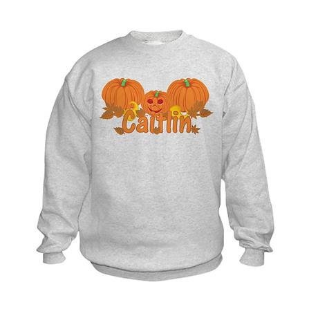 Halloween Pumpkin Caitlin Kids Sweatshirt