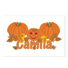Halloween Pumpkin Camila Postcards (Package of 8)
