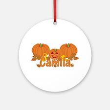 Halloween Pumpkin Camila Ornament (Round)