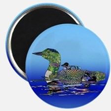 Colorful Loon Magnet